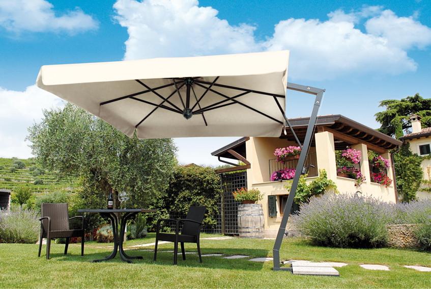 Sonnenschirm Ampelschirm rechteckig für Balkon